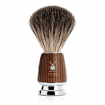 Shave brush badger ash wood