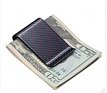Visol Red Carbon Fiber Money Clip