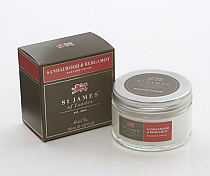 St. James of London Sandalwood & Bergamot Shave Jar