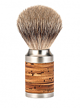 Muhle ROCCA Birch Bark Silver Tip Shave Brush
