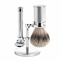Muhle TRADITIONAL Shave Set Safety Razor Chrome Silver Tip