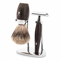 Shaveset 3pcs bog oak safety