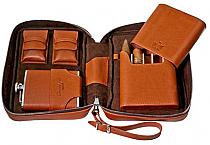 Brizard Havana Travel Humidor Dakota Tan Leather