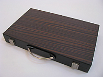 "E.J. Scottina 15"" Oak Backgammon Set"
