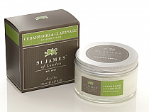 St. James of London Cedarwood & Clarysage Shave Jar