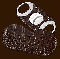 Guillotine tan croco/pouch